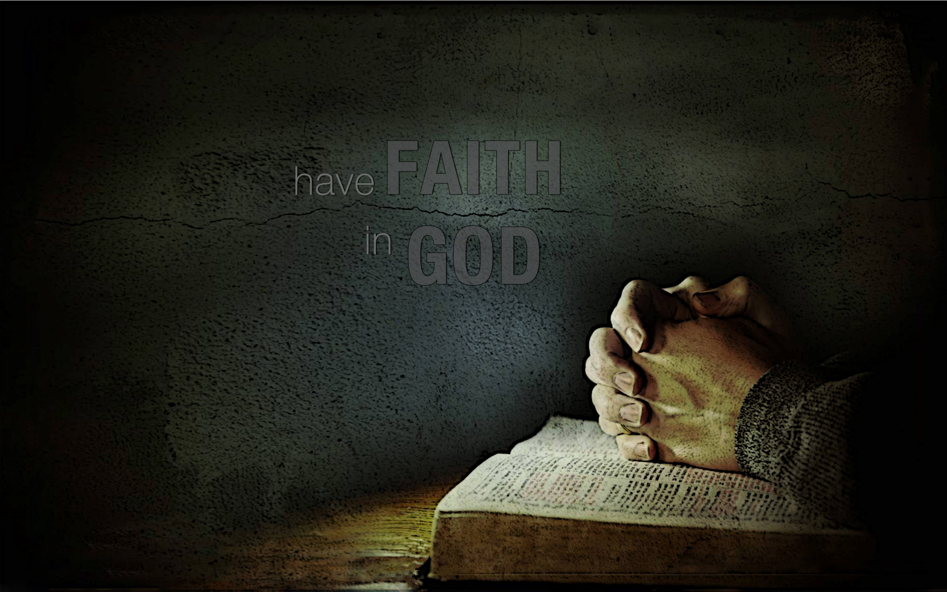 Just what do you mean … faith in God?