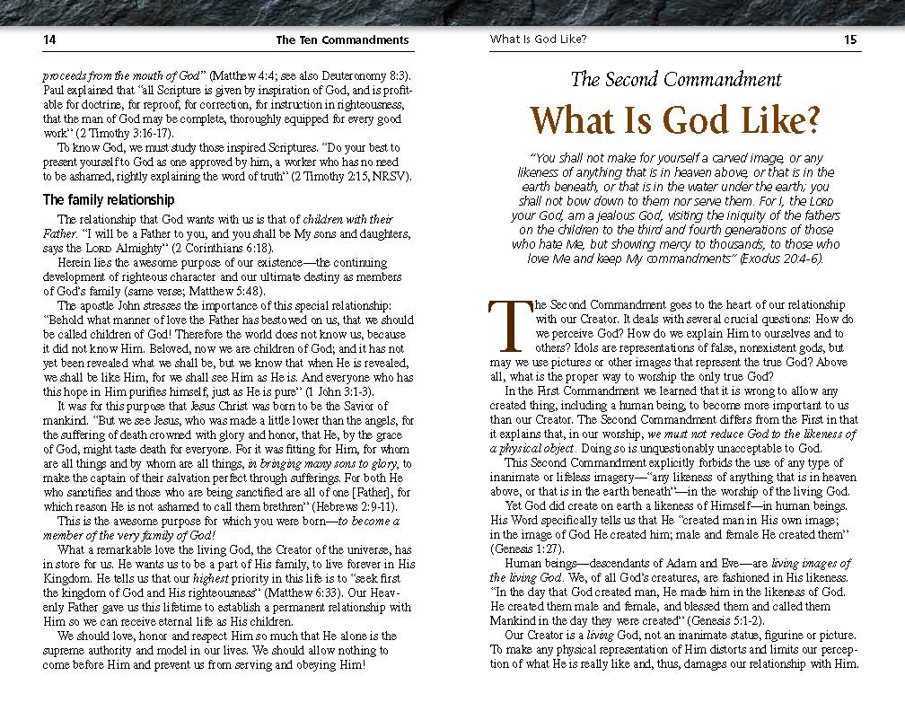 """the ten commandments of god essay """"why the ten commandments because the ten commandments are words from god, they carry a unique, transcendent force and issue from the ultimate authority."""
