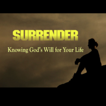 Submission to God: The wrestle to surrender one's agenda