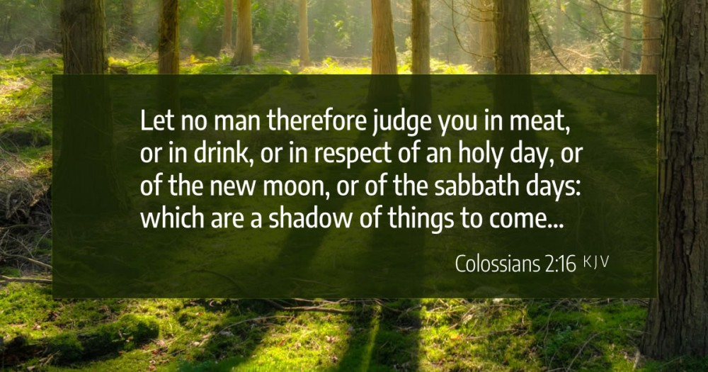 Does Colossians 2:16 abolish the annual holy days?
