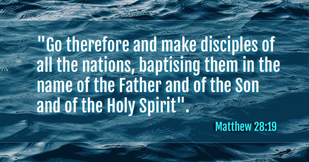 Matthew 28:19 and the Trinity?